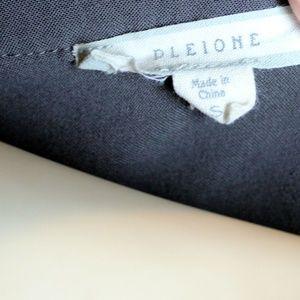 Pleione Tops - Pleione || Gray V-Neck Blouse